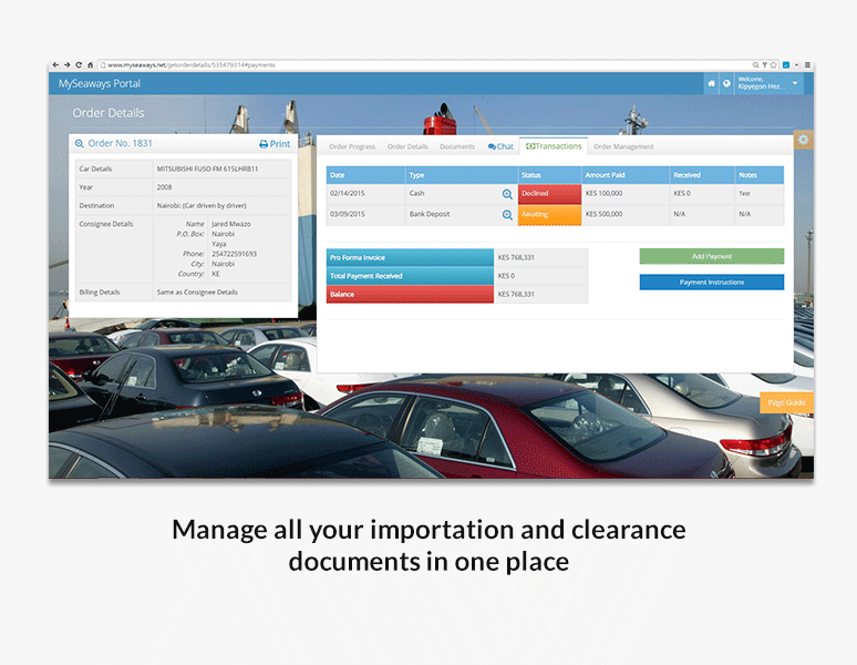 Manage all your importation and clearance documents in one place